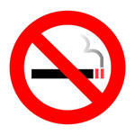 Graphic of smoking sign