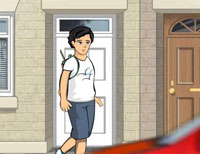 Walk to school graphic